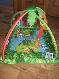 Fisher price rainforest.music and lights baby Gym