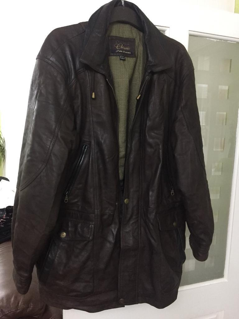 Men leather coat or chacket size L