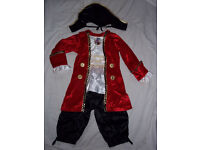 GEORGE DISNEY CAPTAIN HOOK( PETER PAN )DRESS UP 3-4 YRS