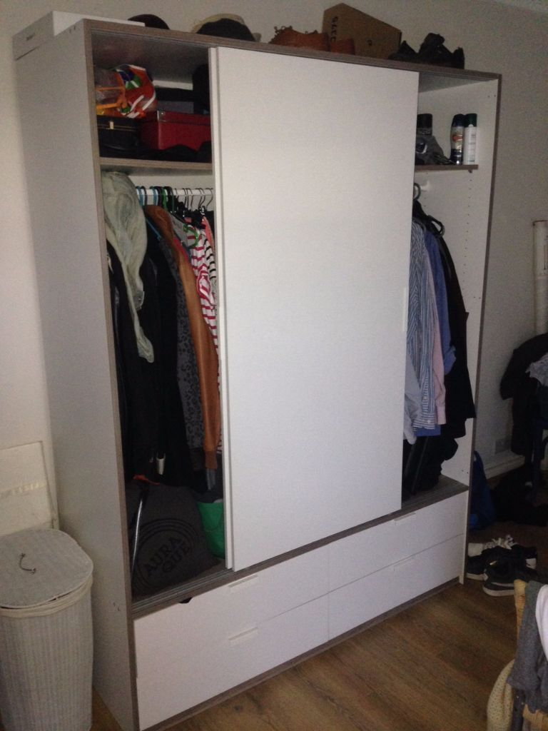 ikea trysil wardrobe in finsbury park london gumtree. Black Bedroom Furniture Sets. Home Design Ideas