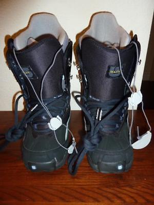 NEW w/Flaws BURTON RULER Womens 8 Black/Grey Lace-up Snowboard Boots - Lace Womens Snowboard Boots