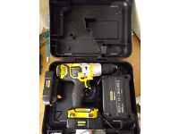 Stanley FatMax 18V Hammer Combi Drill + 2 batteries and charger