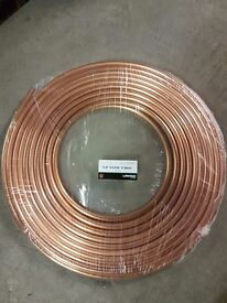 "Copper Pipe Soft Coil 30M 5/8 Tube Air Conditioning/Refrigeration/Plumbing 5/8"" X 0.036"""