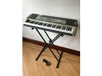 Casio LK-215 Key Lighting System Electronic Keyboard and Stand