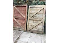 Double wooden gates