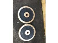 2 x 20 kg Kettler weight plate weights