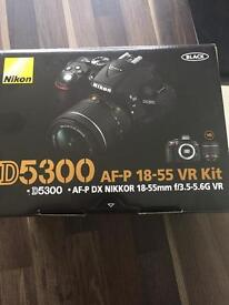 D5300 Camera plus protective bag as new.