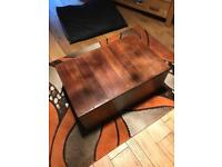 Gorgeous rustic reclaimed wood coffee table / chest
