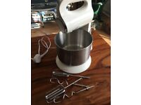 Cake Mixer Hand + Stand with Dough Hook and Cake Whisks