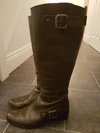 Russell and Bromley Brown Knee High Boots Size 6