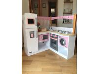 Girls corner wooden play kitchen for sale