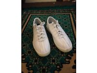 White K Swiss Trainers (Size 10)