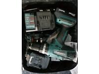 Cordless Makita Hammer Drill 18v HP457D