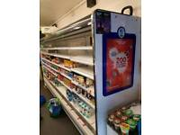 Shop fittings incl 3m chiller, counter with display and fridges
