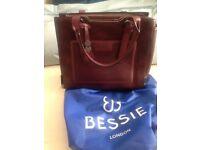 Bessie of London Ladies handbag. Burgundy/ Plum