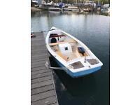 Launch river boat inboard fishing boat