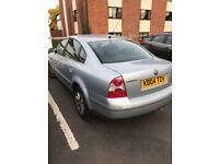 VW Passat, light blue, leather seats, drives beautifully, FSH, MOT, taxed. Selling due to emigration