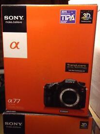 Sony Alpha a77v SLT camera