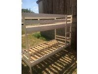 FOR SALE WHITE BUNK BEDS