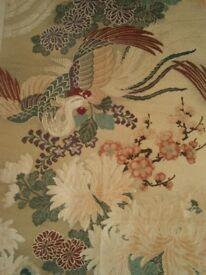 ANTIQUE JAPANESE MARU OBI with PHOENIX