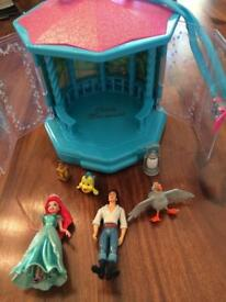 Little Mermaid, beach house plus 4 characters and 2 lamps
