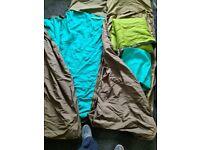 Two army surplus sleeping bags