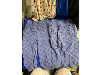 Twins thin flower summer pants blue very good clean condition