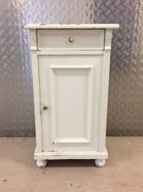 DISTRESSED PAINTED CONTINENTAL SIDE CABINET