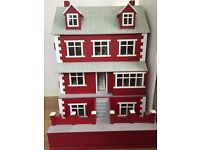 Victorian Dolls house with Basement plus furniture