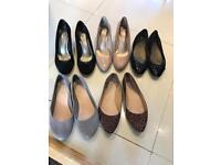 5 pairs of size 8 women's shoes