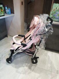 My babiie stroller ( pink butterflys )