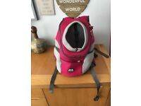 Pink dog carrier