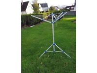 3 Arm Camping Rotary Clothes Airer Portable Aliminium Washing Line - Caravan - Motorhome