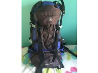 Rucksack 65ltr with accessories