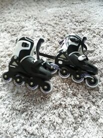 Girls osprey adjustable inline skates size 1-4