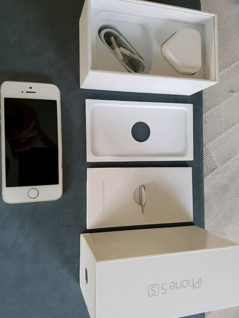 Iphone 5s white 16gbin Blaby, LeicestershireGumtree - Iphone 5s white, 16gb very good condition with all original box and packaging except for earphones
