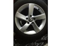 Set of 4 alloys with tyres VW 16 inch off 2012 Passat