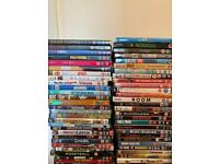 Well over 300 DVDs, Boxsets and Blu Rays.