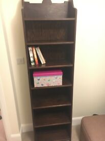 Wooden bookcase - with 7 shelves