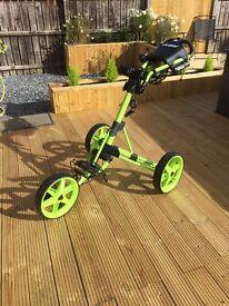 ClicGear 3.5 all green push cart golf trolley brand new no box