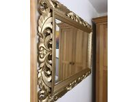 Solid carved wood mirror (delivery)