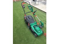 QUALCAST electric rotary mower and strummer