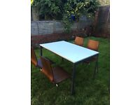 IKEA dining room table plus 4 chairs