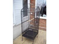 Large parrot cage,5ft 2in high by 2ft wide by 22in deep.