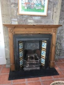 Victorian Fireplace & Surround for sale with lovely original tiles