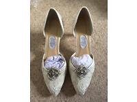 Diane Hassal Wedding Shoes New Size 5.5