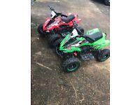 2 x funbikes toxic 36v 800w 3 speed setting quad bikes