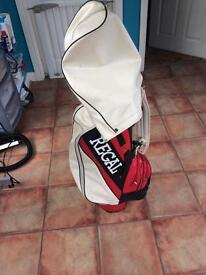 Leather regal golf bag