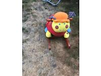 Baby's rocking snail