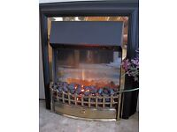 Dimplex Cheriton LED Electric Fire in Brass Model CHT20
